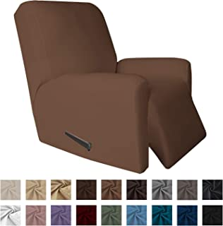 Easy-Going 4 Pieces Microfiber Stretch Recliner Slipcover – Spandex Soft Fitted Sofa..