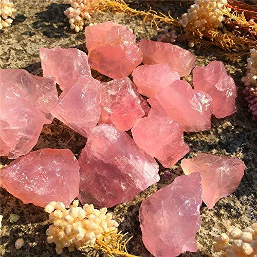 Simurg Raw Rose Quartz Stone 1lb Rose Quartz Rough Crystal -...