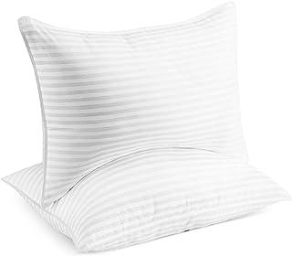 Beckham Hotel Collection Gel Pillow (2-Pack) – Luxury Plush Gel Pillow – Dust..