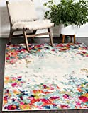 Unique Loom Chromatic Collection Modern Abstract Colorful Multi Area Rug (4' 0 x 6' 0)
