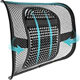 """ACVCY Lumbar Mesh Support for Office Chair or Car Seat, Breathable Comfortable Back Support for Office Chair Lumbar Support Cushion for All Types Car Seats Office Chair Car Lumbar Cushion 12"""" x 16"""""""
