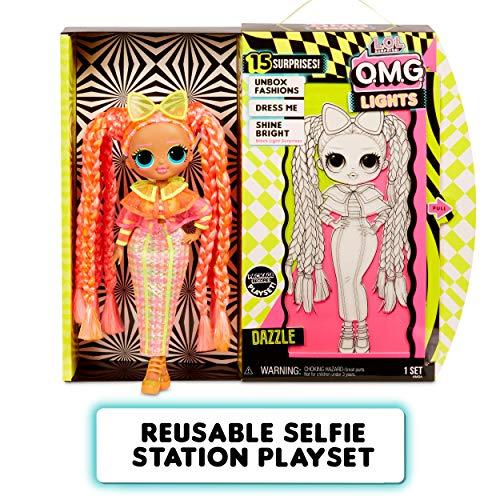 Image 4 - L.O.L. Surprise! Poupées mannequins collectionnables – Avec 15 surprises, vêtements et accessoires - Dazzle – Série O.M.G. Lights