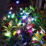 Solar Garden Decorative Lights Outdoor,2 Pack Beautiful LED Solar Powered Fairy Landscape Tree Lights,Two Mode Flower Lights for Pathway Patio Yard Deck Walkway Christmas Decoration