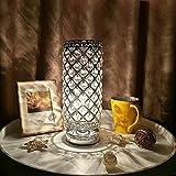 Lampe Cristal,Tomshine abat-jour Lampe de chevet, Cristal de mode créatif...