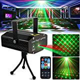 Party Light DJ DiscoLights TONGK Stage Lighting Projector Sound Activated Flash Strobe Light with Remote Control for Parties Home Show Bar Club Birthday KTV DJ Pub Karaoke Christmas Holiday