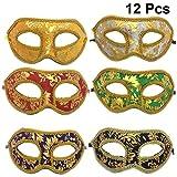 Toyvian Lot de 12 Masques à Paillettes pour fête vénitienne Grecque...