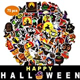 Halloween Stickers Halloween Decals 75 Pcs for Laptops Cars Motorcycle Portable Luggages Ipad Waterproof Sunlight-Proof (C Halloween Style, 75 pcs)