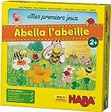 HABA Mes premiers jeux - Abella l'abeille, jeu coopératif de dés de couleur pour 1-4 joueurs de 2 ans, pour apprendre les couleurs, 301839
