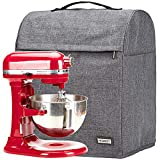 HOMEST Stand Mixer Cover Compatible with KitchenAid Bowl Lift 5-8 Quart,Dust Cover with Zipper Pocket for Accessories, Grey (Patent Pending)