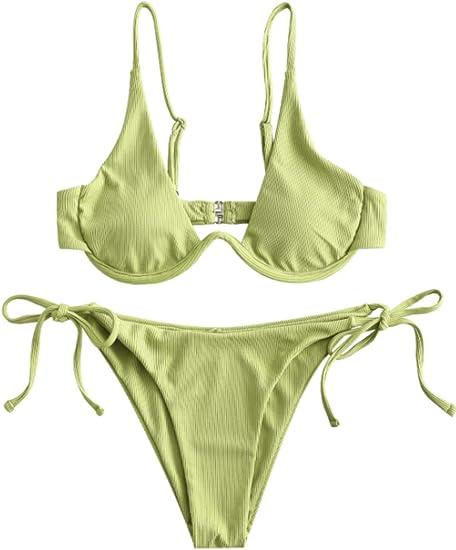 apple green bikini set cheap sale affordable stylish