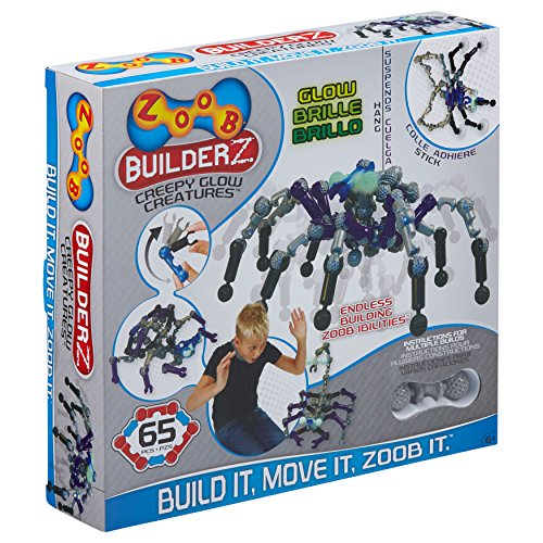 Zoob 14003 Creepy Glow Creatures Moving Mind-Building Modeling System (60-Piece)