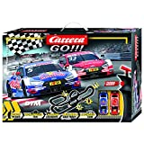 Carrera GO 62480 DTM Master Class Electric Powered Slot Car Racing Kids Toy Race Track Set Includes 2 Hand Controllers and 2 DTM Cars in 1:43 Scale