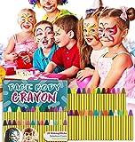 HENMI Pinturas Cara para Niños Seguridad no tóxica Pintura Facial, 28 Colores Crayons de Pintura...