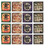Halloween Bottle Labels - 12 Stickers - Creepy Haunted Mansion Decor