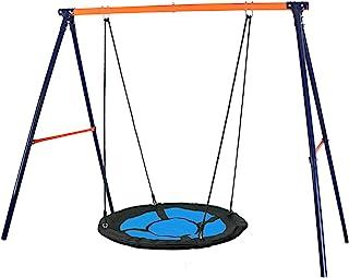 """SUPER DEAL Swing Set, 40"""" Kids Web Tree Swing Saucer Swing + 72"""" All-Steel All.."""