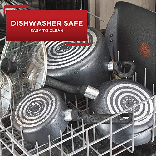 Product Image 4: T-fal C561SC Titanium Advanced Nonstick Thermo-Spot Heat Indicator Dishwasher Safe Cookware Set, 12-Piece, Black