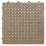 Big Floors DT40BEIG DuraGrid Outdoor Modular Interlocking Multi-Use Deck Tile, 40 Pack, Beige