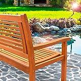 Deuba Gartenbank Bologna 3-Sitzer Eukalyptusholz Sitzbank Holzbank - 6