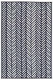 FH Home Indoor/Outdoor Recycled Plastic Floor Mat/Rug - Reversible - Weather & UV Resistant - Fresno - Navy (6 ft x 9 ft)