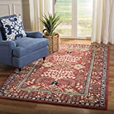 Safavieh Antiquities Collection AT64A Handmade Traditional Red and Multi Area Rug (8' x 10')
