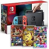 Console Nintendo Switch avec Joy-Con - rouge néon/bleu néon Rayman Legends - Definitive Edition pour Nintendo Switch Sonic Forces Mario Kart 8 Deluxe