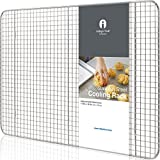 Stainless Steel Cooling Rack Half size - Commercial Grade Metal 11.5' x 16.5' | 1 Piece | Cooking Rack Designed To Fit Perfectly Into Baking Half Sheet Pan