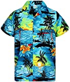 V.H.O. Funky Chemise Hawaiienne, Surf, Turquoise, M