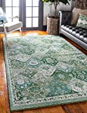 Unique Loom Penrose Collection Distressed Traditional Vintage Green Area Rug (5' 3 x 7' 7)