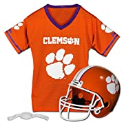 Football costume for kids: Kids love playing football and imagining that they're the star of their favorite team; Now they can let their imagination come to life with these college styled team uniforms Show your team spirit: These sets are available ...