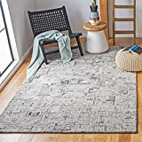Safavieh Abstract Collection ABT142Z Handmade Area Rug, 6' x 9', Ivory/Black