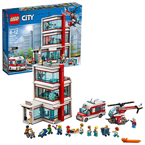 LEGO City Hospital 60204 Building Kit (861 Pieces)
