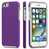 CellEver iPhone 6 / 6s Case, Dual Guard Protective Shock-Absorbing Scratch-Resistant Rugged Drop Protection Cover for Apple iPhone 6 / 6S (Purple)
