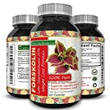 Huntington Lab's Forskolin Weight Loss Supplement for Men and Women, Burns Body Fat and Boosts Metabolism with Natural Pure Coleus Forskohlii Extract a Standardized 20% Forskolin 60 Capsules