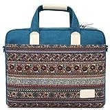 Feisman Bolso del Ordenador portátil de 15.6 Pulgadas, Manga 15-15.6 Pulgadas del Ordenador portátil para el maletín de MacBook Pro -(Azul)