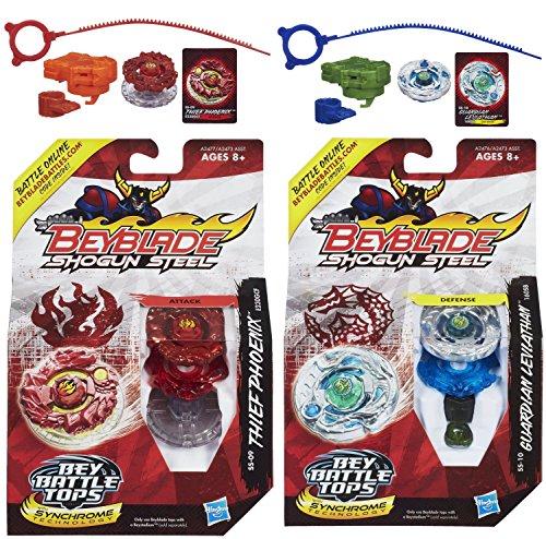 Beyblade Shogun Steel Beybattle Thief Phoenix SS-09 Top & Guardian Leviathan SS-10 Top Bundle