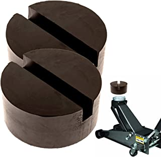 Mission Automotive 2-Pack of Rubber Jack Pads (Slotted Pucks) – Universal,..