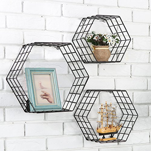 MyGift Metal Wire Hexagon Design...