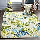 Artistic Weavers Samar Tropical Palm Frond Area Rug, 2'6' x 4', Lime/Aqua