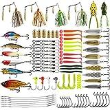 Magreel Kit de Leurre Accessoires de Pêche 110PCS Cuiller Leurre Tournant vers...