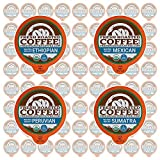 Fresh Roasted Coffee LLC, Water Decaf Coffee Pod Variety Pack, USDA Organic, Single Origin, Medium Roast, Compatible with 1.0 / 2.0 Single-Serve Brewers, 72 Count