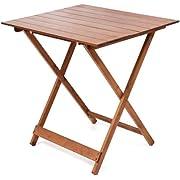 Tavolo tavoli legno pieghevole 60 x 80 regolabile in altezza colore noce lucido tavolo da giardino da balcone richiudibile