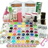Coscelia Nail Art Kit Poudre Acrylique Gel UV Base Primer Top Coat Faux Ongles...