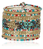 SPUNKYsoul Cuff Bracelets for Women Collection (Red/Teal/Gold)