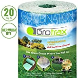 Grotrax Biodegradable Grass Seed Mat, Bermuda Rye - 20 Square Feet Patch N Repair- All in One Growing Solution for Lawns, Dog Patches and Shade -Just Roll Water & Grow - Not Fake or Artificial Grass