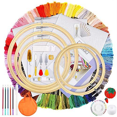 MOOING Kit completo de bordado de 205 piezas,Kit de Herramie