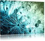 Glasperlen weißes Gras Abstrakt Format: 80x60 cm auf Leinwand, XXL riesige Bilder fertig gerahmt mit Keilrahmen, Kunstdruck auf Wandbild mit Rahmen, günstiger als Gemälde oder Ölbild, kein Poster oder Plakat