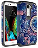LG K10 Case, LG Premier Case, Kaesar [Slim Fit] [Shock Absorption] 2-Piece Hybrid Dual Layer Shockproof Hard Cover Graphic Fashion Cute Colorful Silicone Skin Case for LG K10 - Mandala