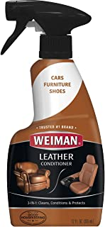 Weiman Leather Cleaner and Conditioner for Furniture – Cleans Conditions and..