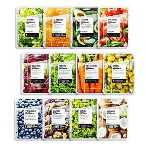 FARMSKIN Superfood Salad For Skin Beauty Facial Sheet Mask 12 Sheets Set
