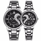 Valentine's Romantic Stainless Steel His and Hers Wrist Watches,fq-102...